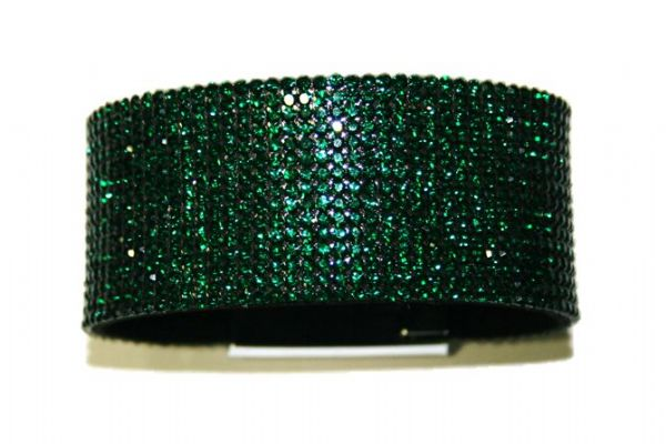 Diamante crystal bling cuff bracelet kit - green - emerald -- c4009011kit